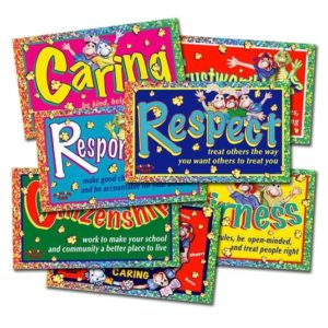 Popcorn Park: Set of (7) 3ft x 5ft Character Education / SEL Banners